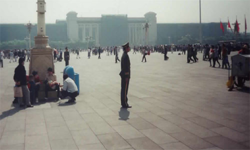 PLA soldier in Tiananmen Square